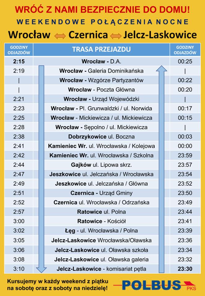 Rozkład autobusów wrocław